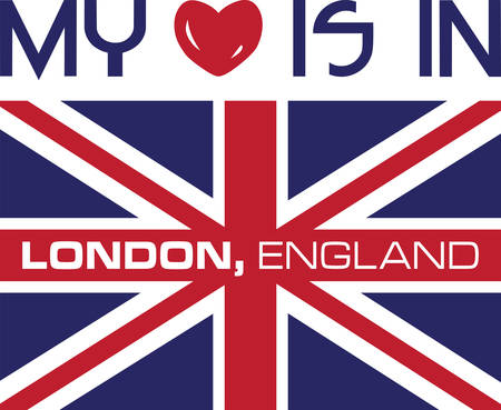 Collect the colorful London  flag. Pick those design by concord. Stock Illustratie