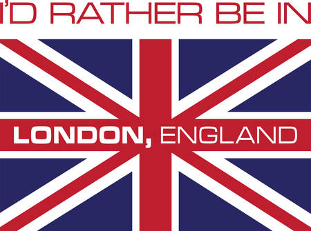 concord: Collect the colorful London  flag. Pick those design by concord. Illustration