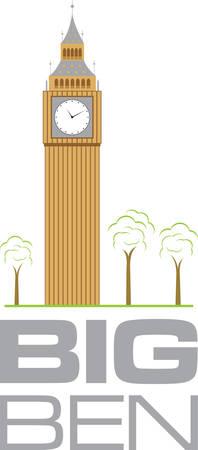 La torre del reloj ampliamente conocido como el Big Ben es que pasará a llamarse la Torre Isabel en honor de la Reina. Escoja los diseños de Concord Foto de archivo - 41373617