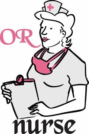 operating room: Enfermera le ayudar� al m�dico a operar el patient.Pick aquellos dise�o de Concord Vectores