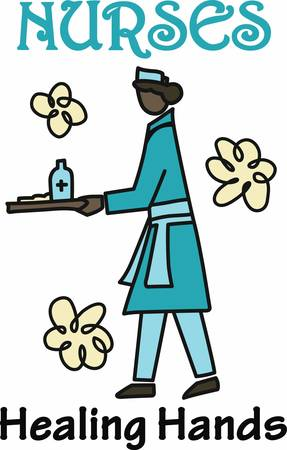 trained: A person trained to care for the sick or infirm especially in a hospital pick those designs by concord Illustration