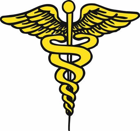 esculapio: El caduceo es un s�mbolo antiguo asociado tradicionalmente con la medicina y la curaci�n recoger esos dise�os de la concordia