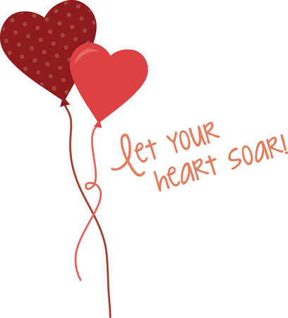 soar: Use this heart balloons for a Valentine gift.
