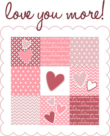 Use this heart design for a Valentine gift.