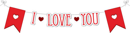 Use this heart banner for a Valentine gift. Иллюстрация