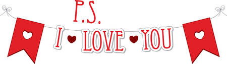 ps: Use this heart banner for a Valentine gift. Illustration