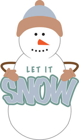 pleasing: Use this snowman for a winter dress.