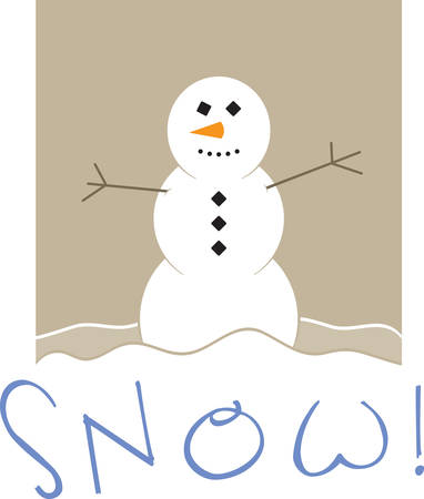 Use this snowman for a winter dress.