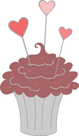 Use this cupcake on a dessert tray linen.
