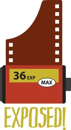 camera film: Be a shutter bug with a classic camera film roll.