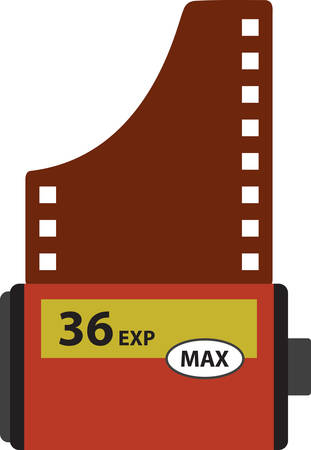 number 36: Be a shutter bug with a classic camera film roll.