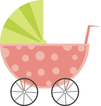 perambulator: Un bambino di trasporto � un grande disegno per un bambino doccia.