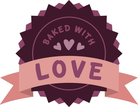 Use this loving banner for a home baked gift for a friend. Çizim