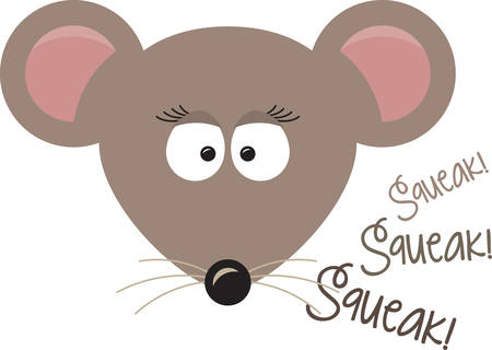 squeak: Use this loving banner for a home baked gift for a friend. Illustration