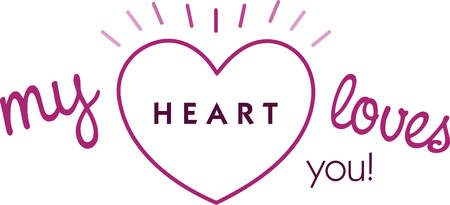 Use this heart for a shiny Valentine gift.
