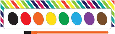 Use this watercolor palette for a fun painting smock for a child or adult. Ilustrace
