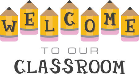 Use these pencils for a welcoming message for your students.