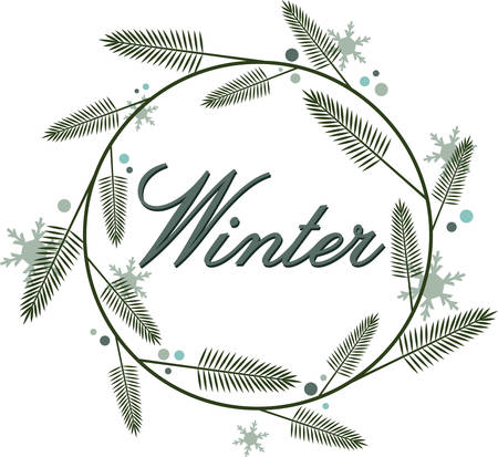 This lovely winter wreath will be perfect for a seasonal napkin and linen set.