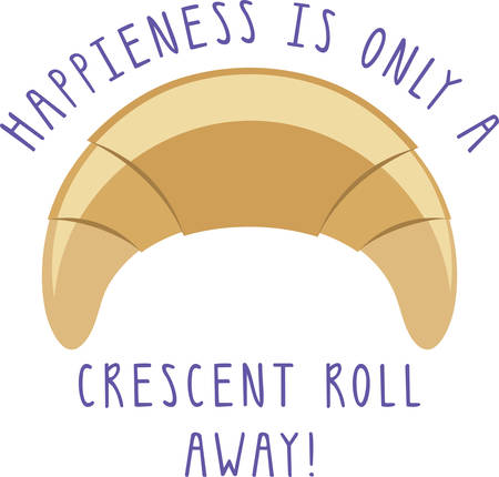 Use this crescent roll for a pastry chef.