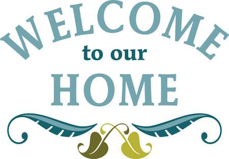 Gebruik deze welkome teken voor home decor.