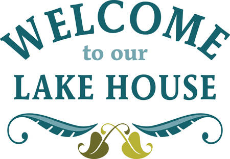 home decor: Use this welcome sign for home decor.
