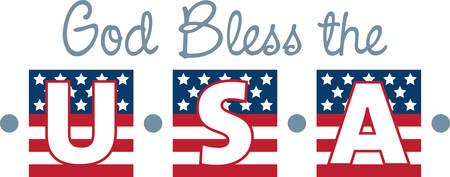 Use this American flag banner for a patriotic project.