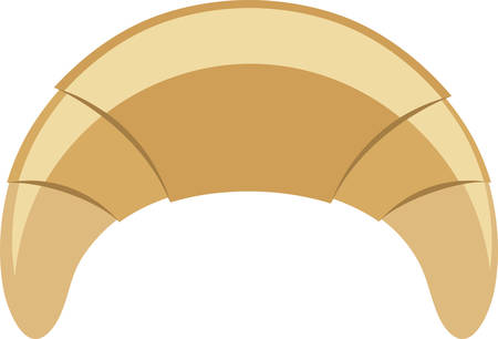 ペーストリー作りの職人にこの三日月形のロールを使用します。  イラスト・ベクター素材