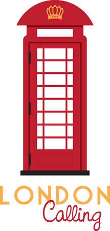 Niza diseño de la cabina de teléfono para decorar la casa Foto de archivo - 41473386