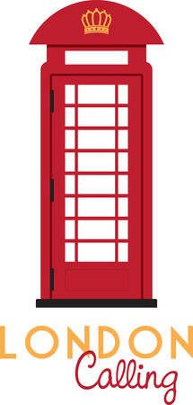 Nice telephone booth design to decorate the house Illustration