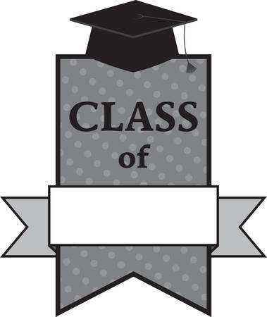 The perfect image for the graduate.  All ready to add the special year