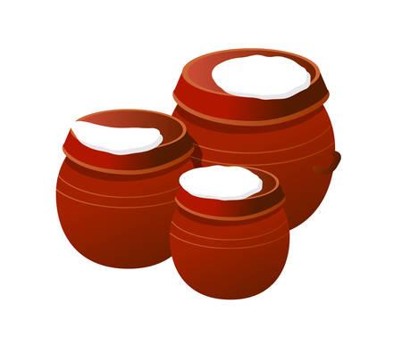 これらのコンテナーは、あなたの台所設計に最適です。  イラスト・ベクター素材