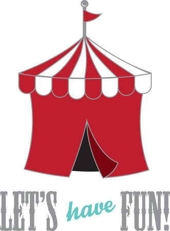 big top: Advertise your brand and enhance your business with this design on t-shirts, shirts, hats and more.