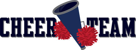 Got spirit Get fired up and ready to win with this charming cheerleader design on t-shirts, hoodies, sweatshirts and jackets! Ilustracja