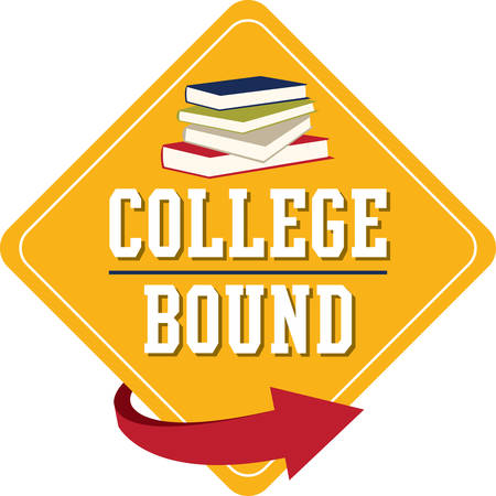 Personalize linen, clothing, framed embroidery and more with this design for your college bound kids! Illustration