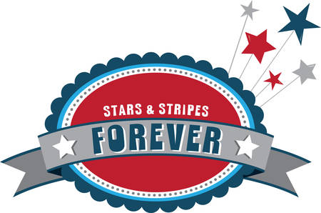decal: Show off your patriotic side by wearing the stars and stripes decal on t-shirts, scarves, hats and more for Independence Day!