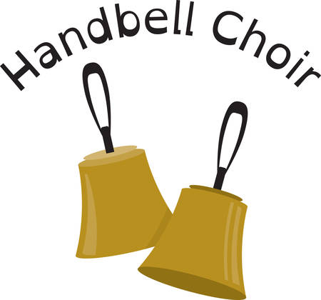 This set of choir bells will make a stylish accent to towels, linens, and pockets. Иллюстрация