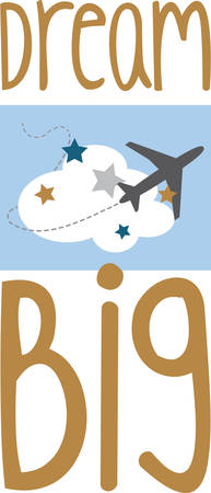 d�coller: Up, up and away! Take off!  This cute little design will be perfect for your little pilots on t-shirts, hoodies, hats, warm-ups and more!