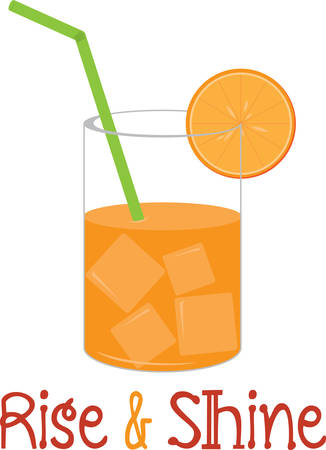 Create a splendid look for summer with this extra juicy orange juice design on place mats and linens! Illustration