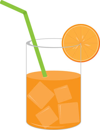 splendid: Create a splendid look for summer with this extra juicy orange juice design on place mats and linens! Illustration