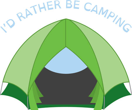 Tijd om te genieten van de beste dagen van de zomer in de bossen en op de meren. Dit ontwerp is perfect op projecten voor outdoor liefhebbers.
