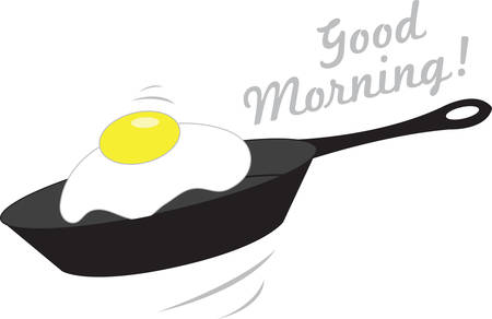 For a special breakfast treat, theres nothing like freshly made fried eggs.  A perfect design on tablecloths, kitchen linen and more!