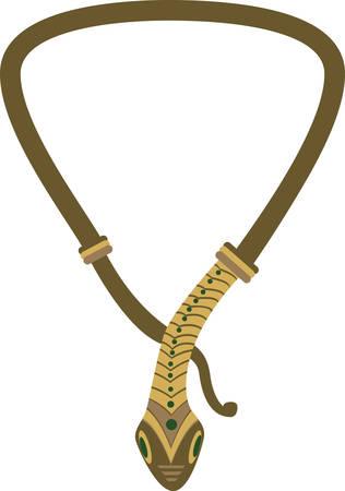 欲望: Accessorize to your hearts desire.  Get this unique snake necklace on your indoor projects and add personality to your style!