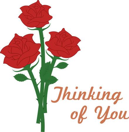 どのような理由や機会あるかもしれなくてもいかに、バラはそれを言う最高。 このデザインでそれらのためのあなたの贈り物を愛する気にさせる!  イラスト・ベクター素材
