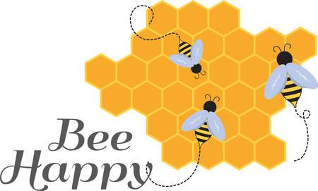 Vous cherchez un moyen d'égayer le printemps Wake votre chambre instantanément avec cette conception d'abeille accrocheur! Banque d'images - 48512333