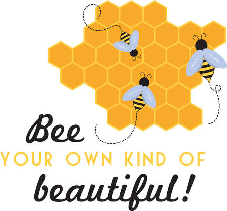 Looking for a way to brighten up for spring  Wake your room up instantly with this eye-catching busy bee design! 일러스트