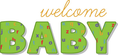 乳幼児: このデザインは、乳児、新生児、幼児のためのユニークなギフトは、ボディスーツ、新生児用品、おむつカバー、ベビー t シャツ、帽子、ゼッケン  イラスト・ベクター素材