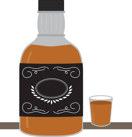 Time to celebrate with this perfect design to please the whiskey connoisseur! This cool design will look good on cocktail napkins, kitchen decor and more! 向量圖像