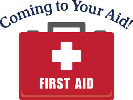 firstaid: This design is perfect for embroidering on plain scrubs, first-aid kits, wash cloth ice-packs and more!