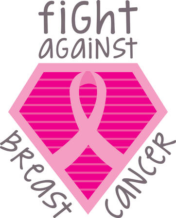 Spread awareness of the fight to find a cure for breast cancer all year round with this design on shirts, t-shirts, bags and more!
