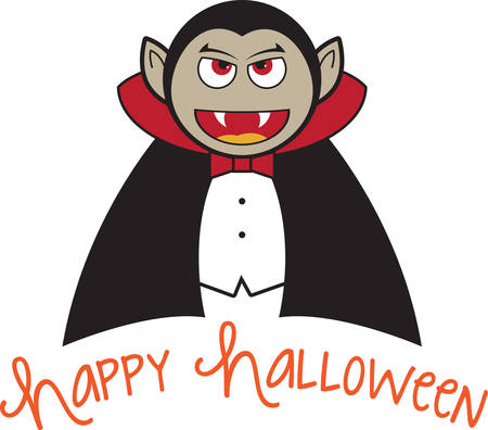 fang: Prepare to have a hauntingly delightful Halloween with this design on t-shirts, hoodies, hats, warm-ups and more for the little ones!